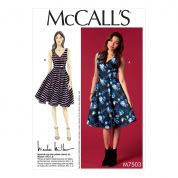 McCalls Ladies Easy Sewing Pattern 7503 Sleeveless V Neck Dresses