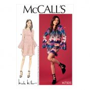 McCalls Ladies Easy Sewing Pattern 7505 Trumpet Sleeve Dresses