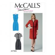 McCalls Ladies Sewing Pattern 7506 Split Neck & Split Hem Dresses with Binding