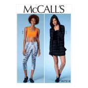 McCalls Ladies Easy Sewing Pattern 7514 Jacket with Hood, Sports Bra, Skirt and Leggings