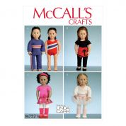 McCalls Crafts Sewing Pattern 7521 Athletic & Dance Outfits for Dolls