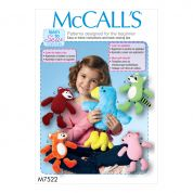 McCalls Crafts Easy Sewing Pattern 7522 Woodland Animal Stuffed Toys