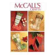 McCalls Crafts Easy Sewing Pattern 7523 Christmas Stockings in Four Styles
