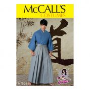 McCalls Mens Easy Sewing Pattern 7525 Kimono & Pleated Pants Costume