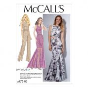 McCalls Ladies Sewing Pattern 7540 Top, Skirt, Dress & Jumpsuit