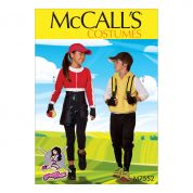 McCalls Childrens Easy Sewing Pattern 7552 Jacket, Hoodie, Romper & Pants Costumes