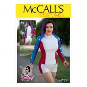 McCalls Ladies Sewing Pattern 7554 Tops, Stirrup Leggings & Shorts Costume