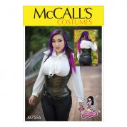 McCalls Ladies Sewing Pattern 7555 Underbust, Corset Style Tops
