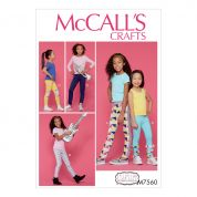 McCalls Girls Easy Sewing Pattern 7560 Leggings with Contrast & Ruffle Details