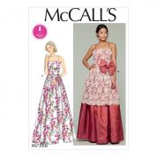 McCalls Ladies Sewing Pattern 7568 Fitted Bodice Spaghetti Strap Dresses
