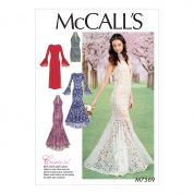 McCalls Ladies Sewing Pattern 7569 Column & Mermaid Style Dresses