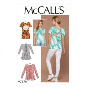 McCalls Ladies Easy Sewing Pattern 7570 Laced, Tied & Open Back Knit Tops