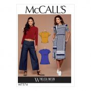 McCalls Ladies Easy Sewing Pattern 7574 Pullover Tops, Tunic & Dress