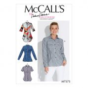 McCalls Ladies Easy Sewing Pattern 7575 Button Down Shirts