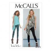 McCalls Ladies Sewing Pattern 7579 Asymmetrical Seam Detail Top & Pants