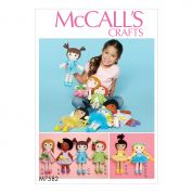 McCalls Craft Easy Sewing Pattern 7592 Cloth Doll & Clothes