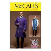 McCalls Mens Sewing Pattern 7585 Three Quarter Length Coat & Waistcoat Costume