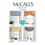 McCalls Home Sewing Pattern 7586 Window Valances