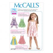 McCalls Girls Easy Learn to Sew Sewing Pattern 7587 Dresses with Skirt Variations