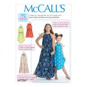 McCalls Girls Easy Learn to Sew Sewing Pattern 7589 Sleeveless Dresses