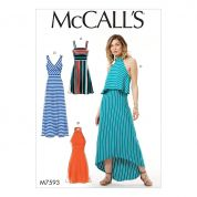 McCalls Ladies Easy Sewing Pattern 7593 Sleeveless Pullover Dresses