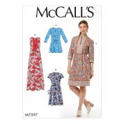 McCalls Ladies Easy Sewing Pattern 7597 Loose Fitting Pullover Tunic & Dresses