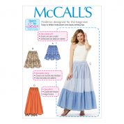 McCalls Ladies Easy Sewing Pattern 7604 Pull On Gathered Skirts with Tiers