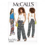 McCalls Ladies Sewing Pattern 7605 Close Fitting Top & Pull On Drawstring Pants