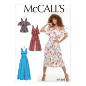 McCalls Ladies Easy Sewing Pattern 7608 Fitted, Lined Sleeveless Romper & Jumpsuits