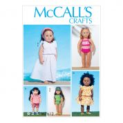 McCalls Crafts Easy Sewing Pattern 7612 Doll Clothes