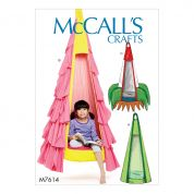 McCalls Homeware Sewing Pattern 7614 Novelty Hanging Seats