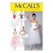 McCalls Ladies Sewing Pattern 7615 Ballet Costumes & Tutus
