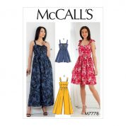 McCalls Sewing Pattern 7778