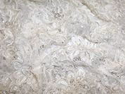 Melissa Corded & Beaded Chantilly Couture Bridal Lace Fabric  Ivory