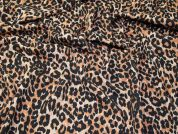 Animal Print Scuba Knit Fabric  Tan