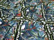 Stretch Pebble Crepe Fabric  Multicoloured