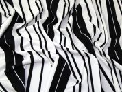 Stripe Scuba Knit Fabric  Black & White