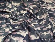 Camouflage Scuba Knit Fabric  Green