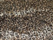 Animal Print Stretch Mesh Fabric  Brown