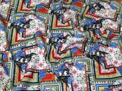 Oriental Scuba Knit Fabric  Multicoloured