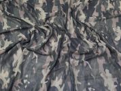 Camouflage Stretch Mesh Fabric  Green