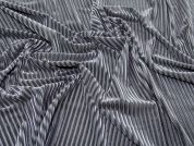 Stripe Velour Knit Fabric  Grey