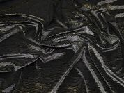 Metallic Velour Knit Fabric  Gold on Black
