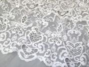 Embroidered Lace Fabric  Ivory