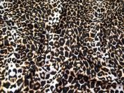 Animal Print Scuba Knit Fabric  Black & Brown