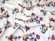 Floral Scuba Knit Fabric  Multicoloured