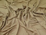 Linen Look Jersey Knit Fabric  Beige