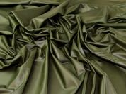 Faux Leather Knit Fabric  Dark Olive