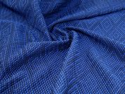 Textured Jacquard Fabric  Blue