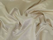 Metallic Jacquard Fabric  Cream & Gold